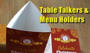 Menu Holders & Table Talkers