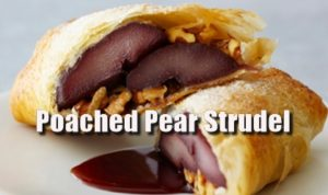 Poached Pear Strudel