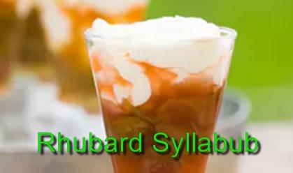 pub food, recipe, menu idea, seasonal food, spring, rhubarb,
